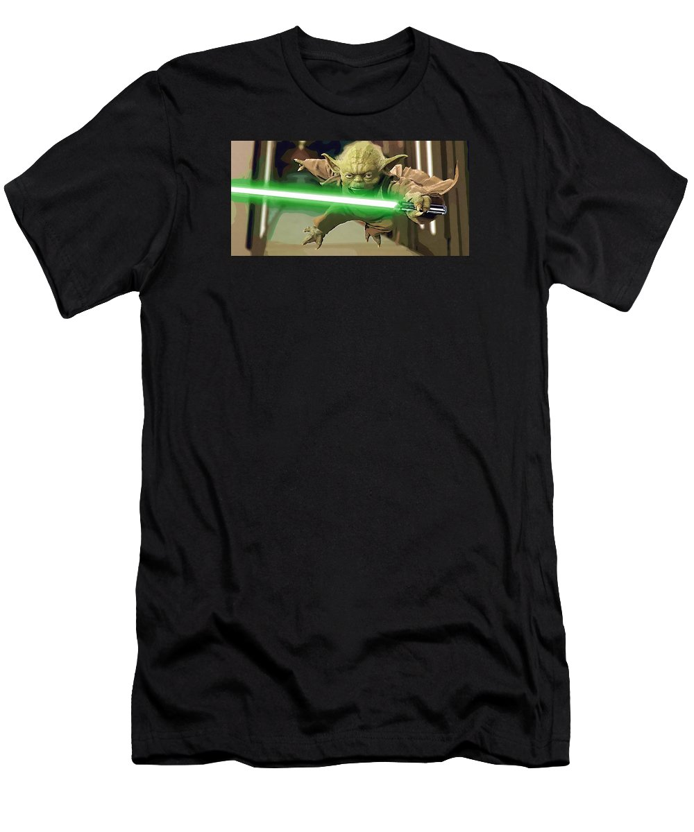 Anakin Star Wars T-Shirt featuring the digital art Video Star Wars Art by Larry Jones