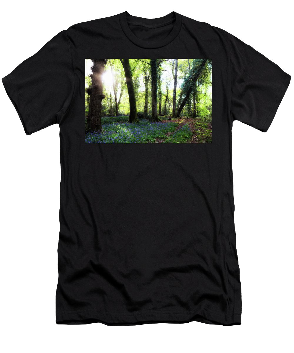 Pondhead Inclosure Men's T-Shirt (Athletic Fit) featuring the photograph New Forest - England by Joana Kruse