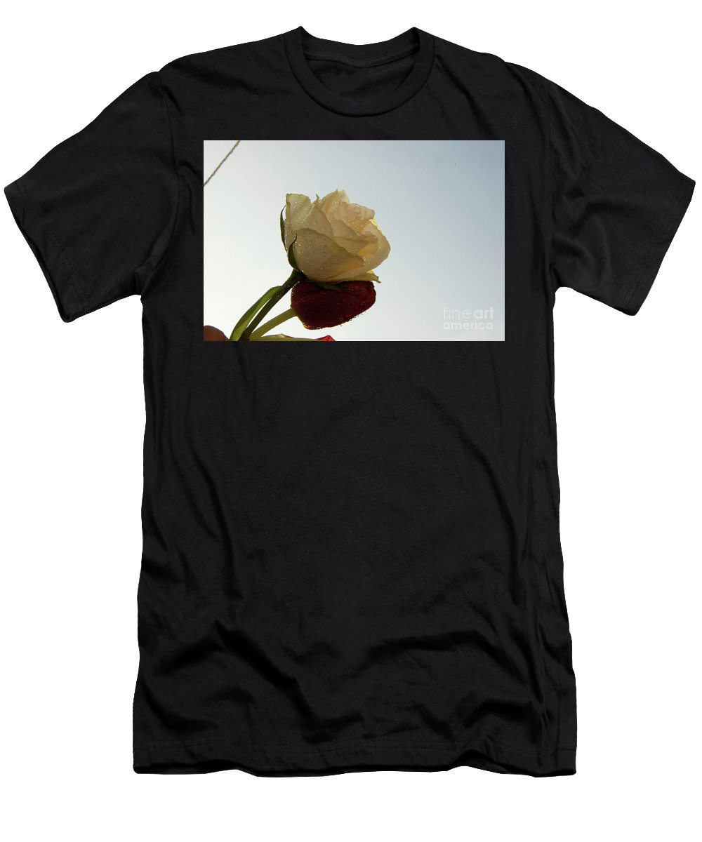 Flowers Men's T-Shirt (Athletic Fit) featuring the photograph Nice Rose by Elvira Ladocki