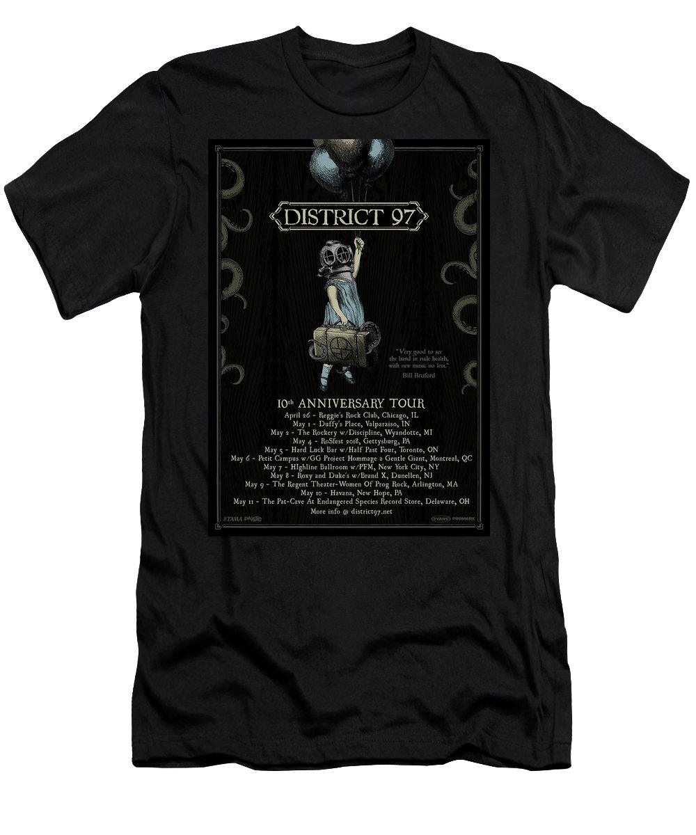 T-Shirt featuring the digital art 10th Anniversary Tour by District 97