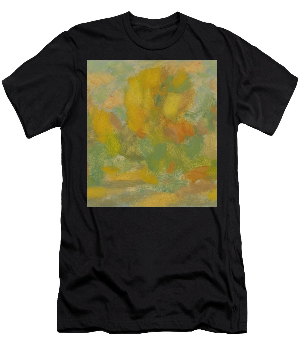 Street Men's T-Shirt (Athletic Fit) featuring the painting Autumn by Robert Nizamov