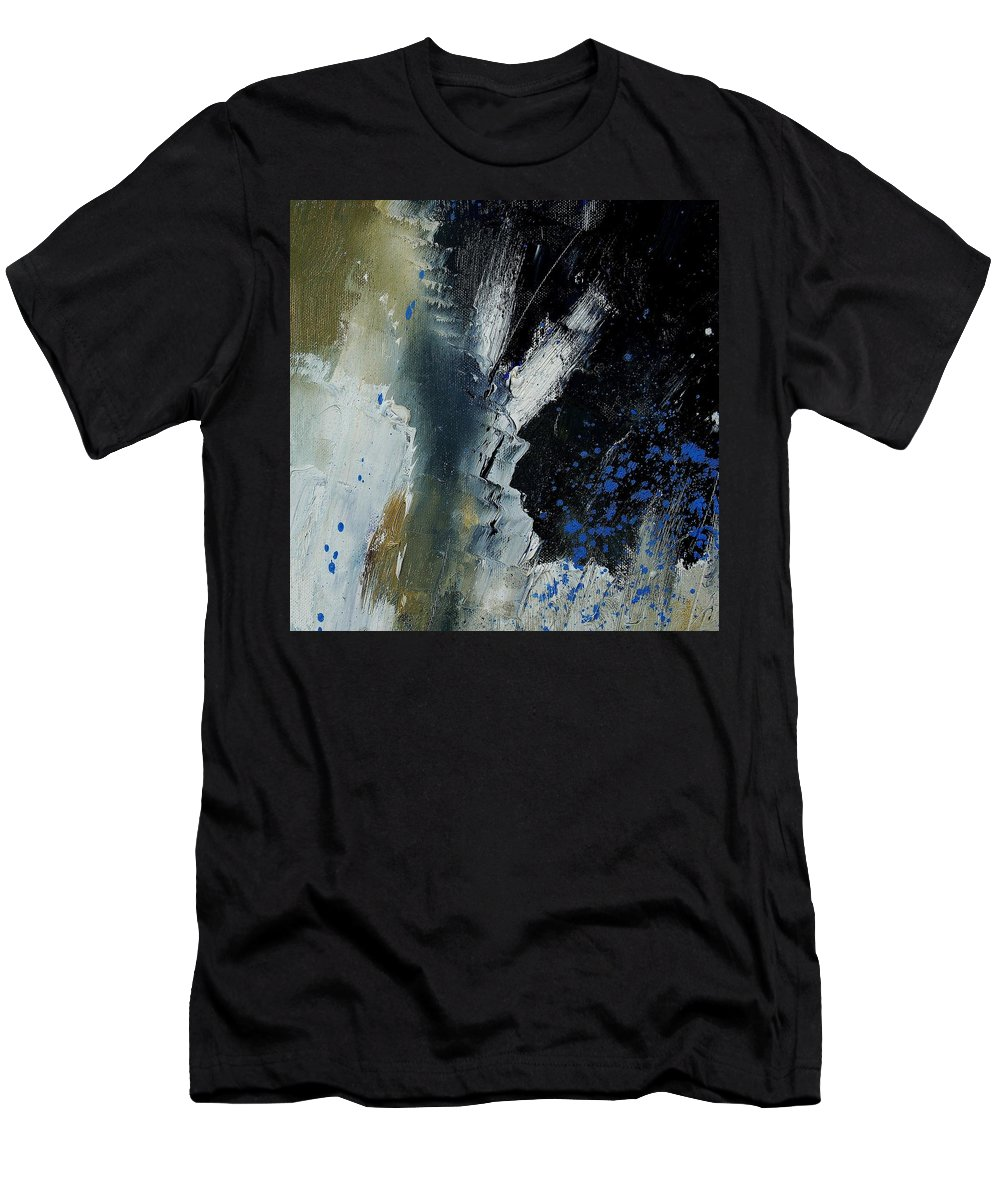 Abstract Men's T-Shirt (Athletic Fit) featuring the painting 1237 by Pol Ledent