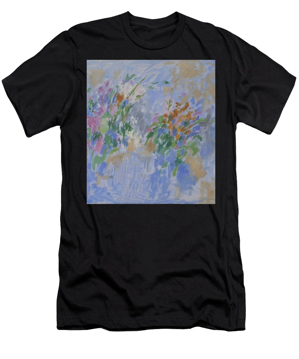 Bouquet Men's T-Shirt (Athletic Fit) featuring the painting Flowers by Robert Nizamov