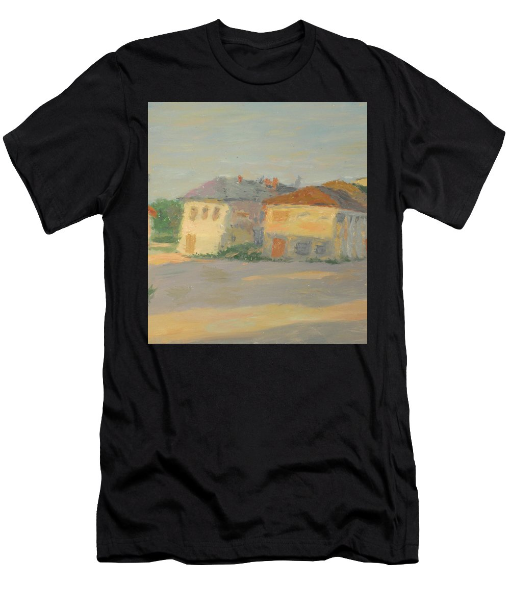 Street Men's T-Shirt (Athletic Fit) featuring the painting Rostov by Robert Nizamov