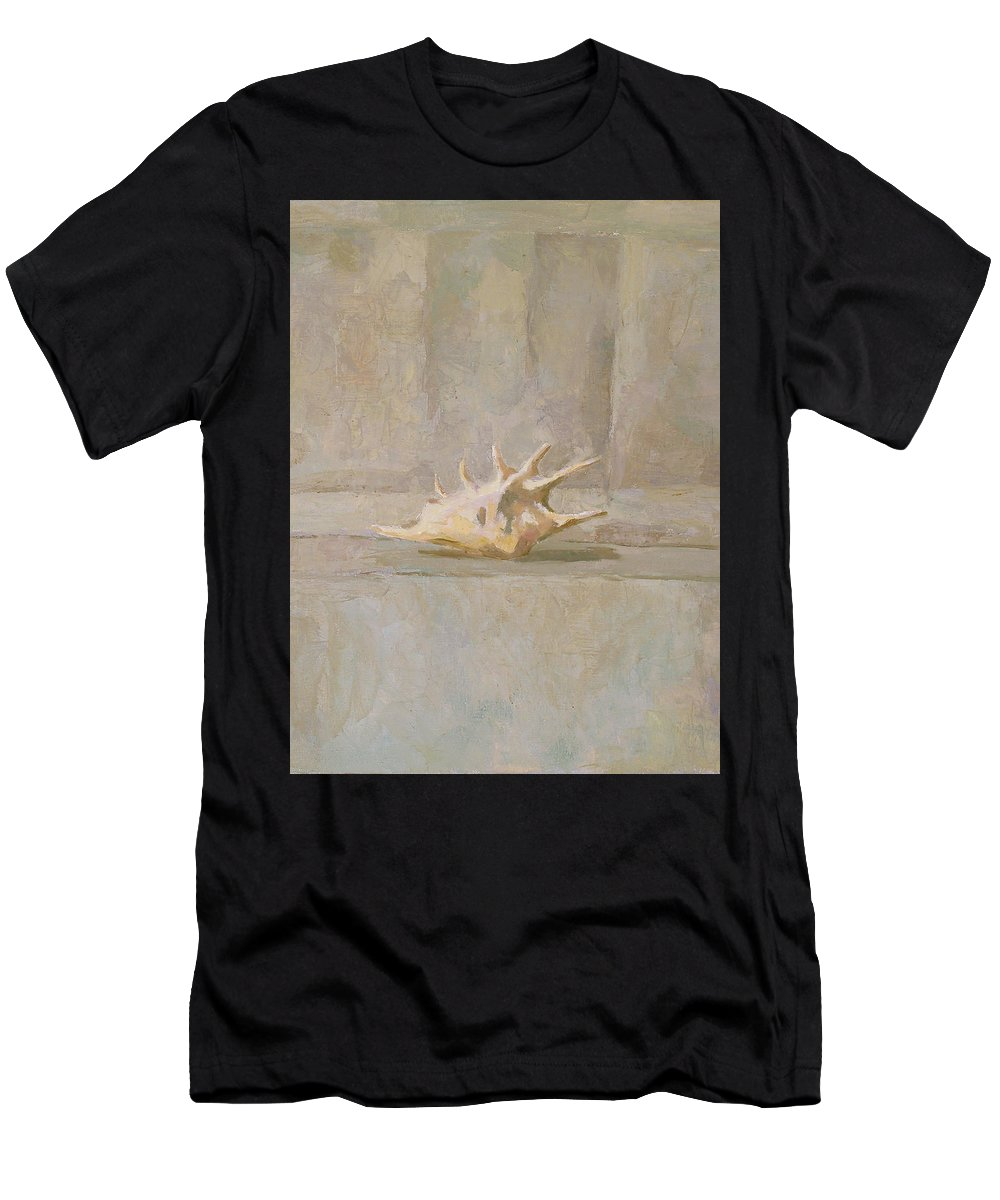 Shell Men's T-Shirt (Athletic Fit) featuring the painting Still Life by Robert Nizamov