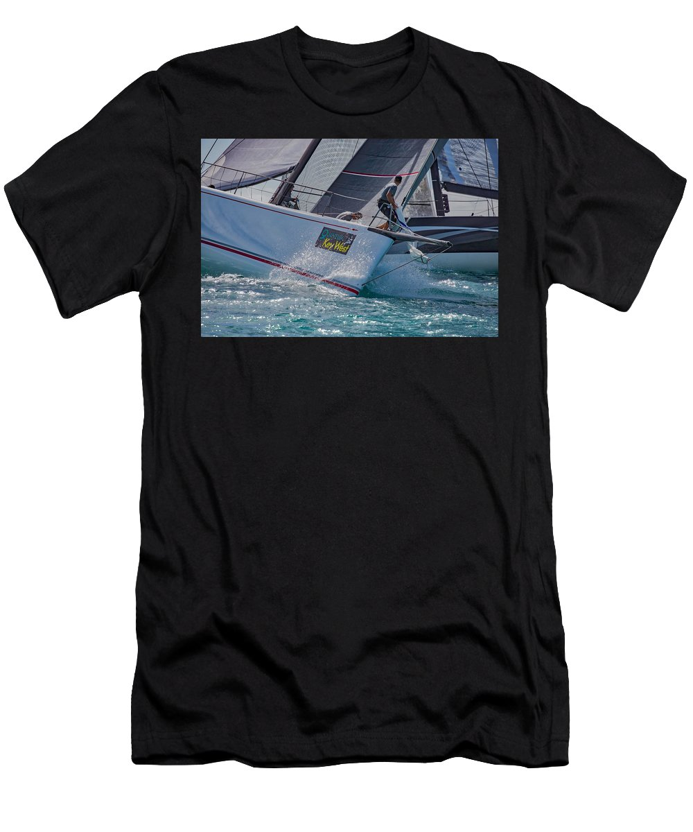 Water Men's T-Shirt (Athletic Fit) featuring the photograph Watercolors by Steven Lapkin