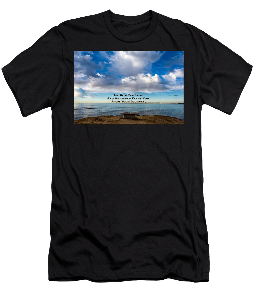 Buddha Men's T-Shirt (Athletic Fit) featuring the photograph A Buddha Saying by Joseph S Giacalone