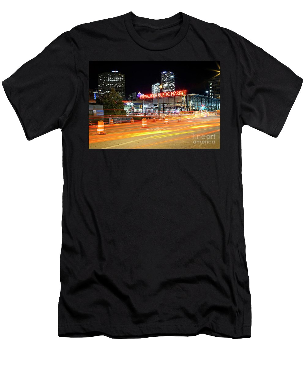 Milwaukee Men's T-Shirt (Athletic Fit) featuring the photograph 1405 Milwaukee Public Market by Steve Sturgill