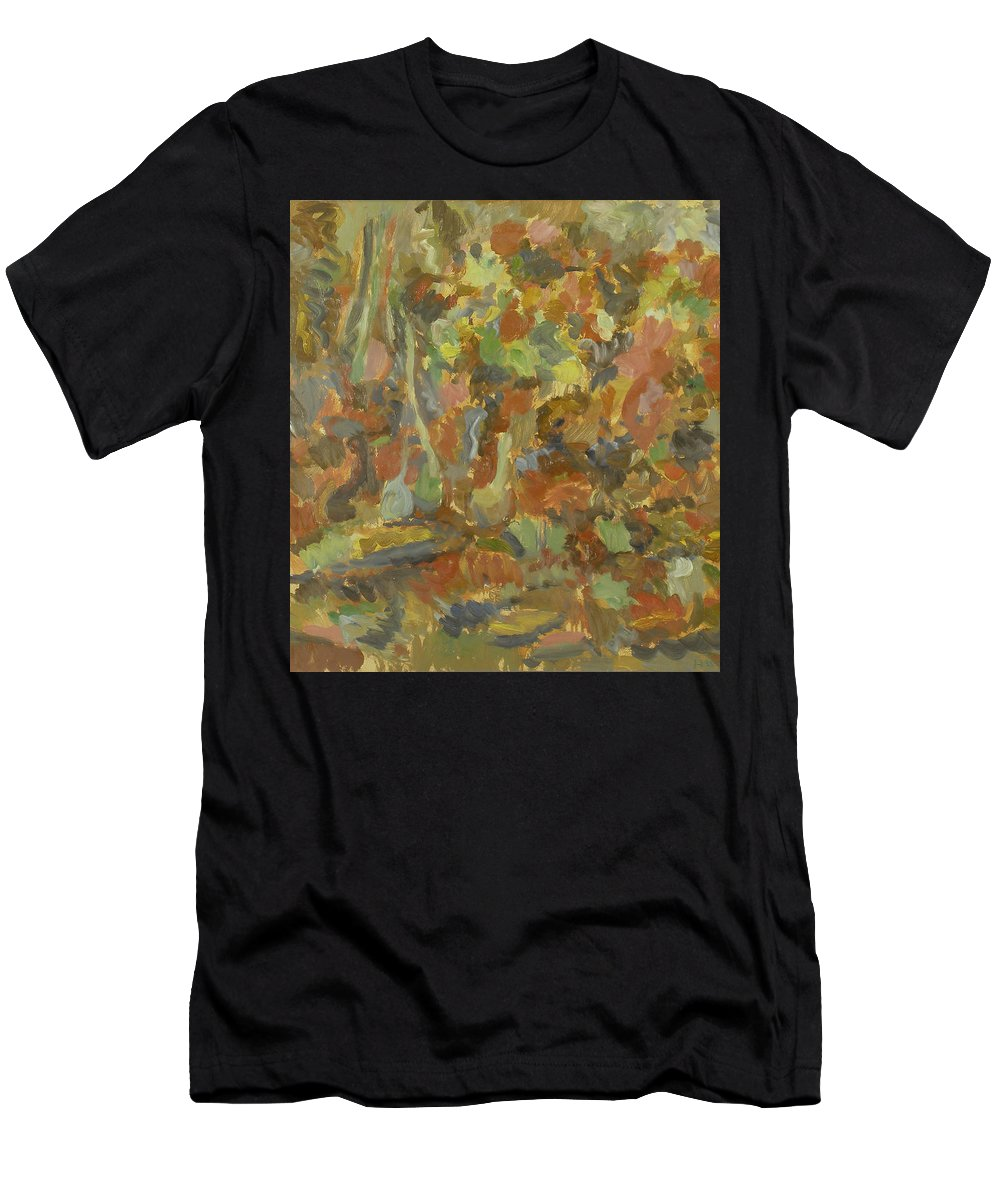 Apples Men's T-Shirt (Athletic Fit) featuring the painting Still Life by Robert Nizamov
