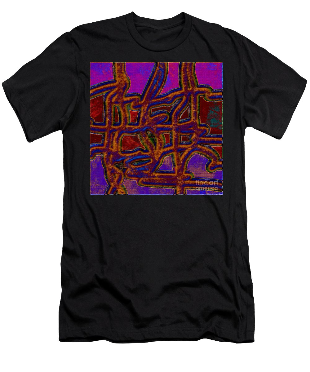 Abstract Men's T-Shirt (Athletic Fit) featuring the digital art 1554 Abstract Thought by Chowdary V Arikatla