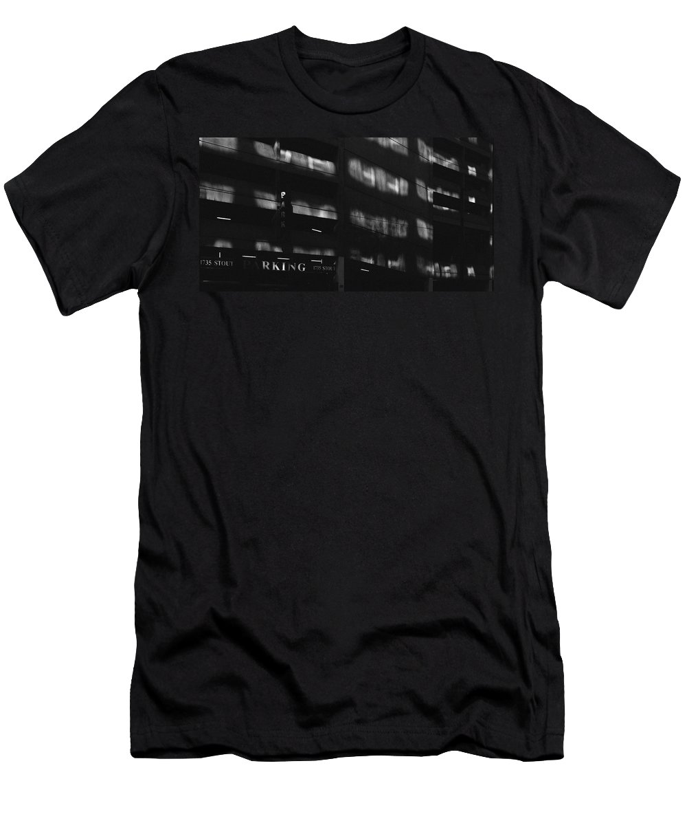 Architecture Men's T-Shirt (Athletic Fit) featuring the photograph Denver Building Study by CEB Imagery