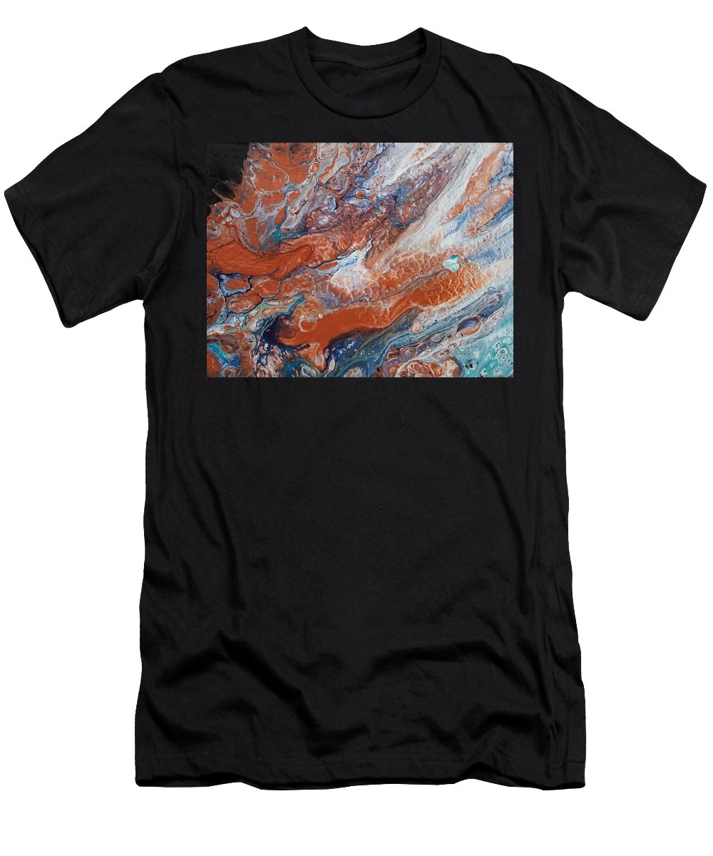 Abstract Men's T-Shirt (Athletic Fit) featuring the painting #163 by Gerry Smith