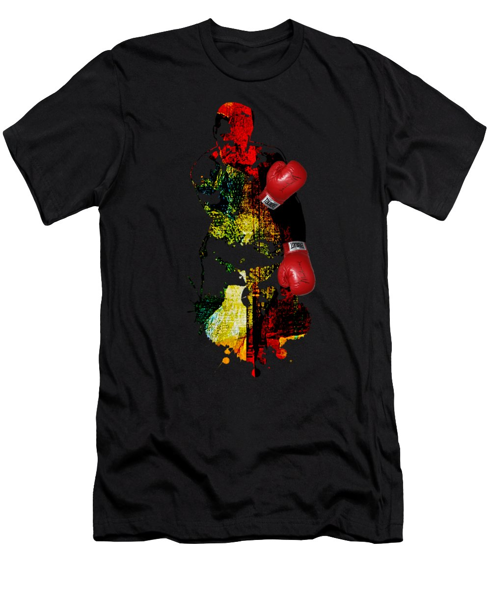 Sports Men's T-Shirt (Athletic Fit) featuring the mixed media Muhammad Ali Collection by Marvin Blaine