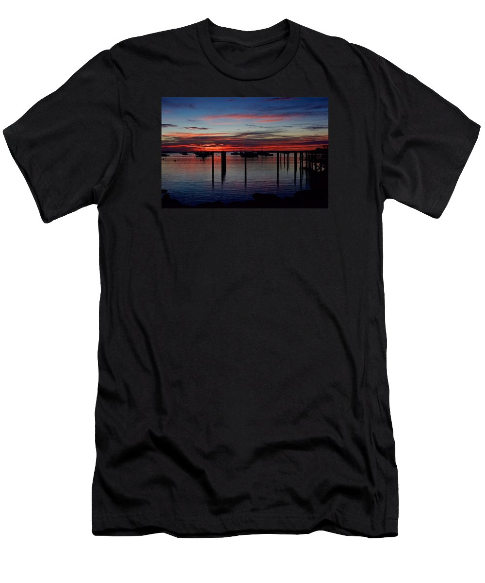Landscape Men's T-Shirt (Athletic Fit) featuring the photograph Sunrise by Christine Russell
