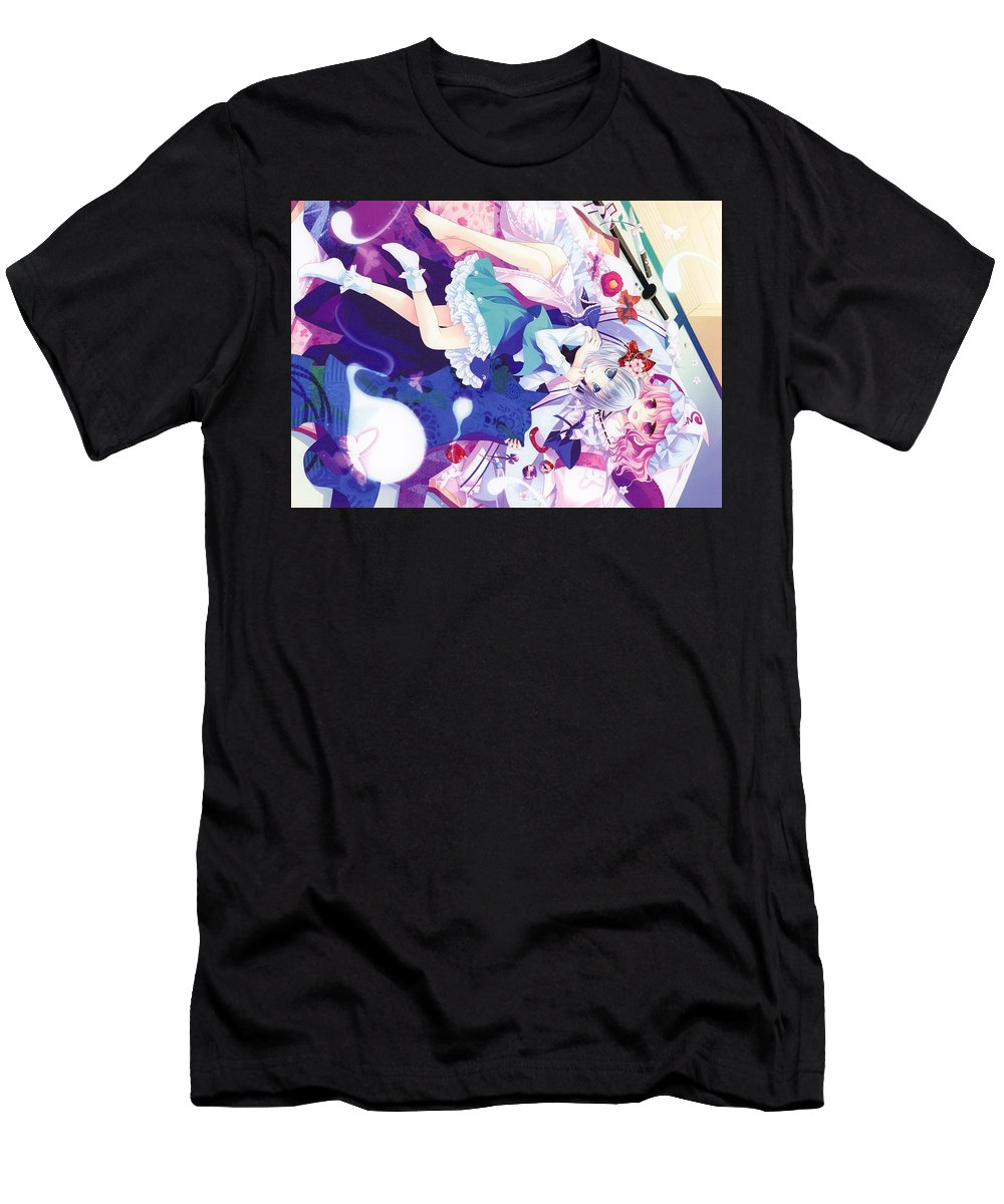 Touhou Men's T-Shirt (Athletic Fit) featuring the digital art Touhou by Maye Loeser