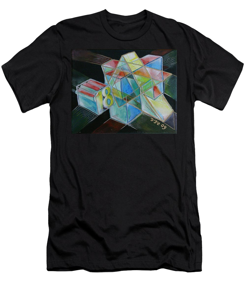 Drawing Men's T-Shirt (Athletic Fit) featuring the painting 18 by Gideon Cohn