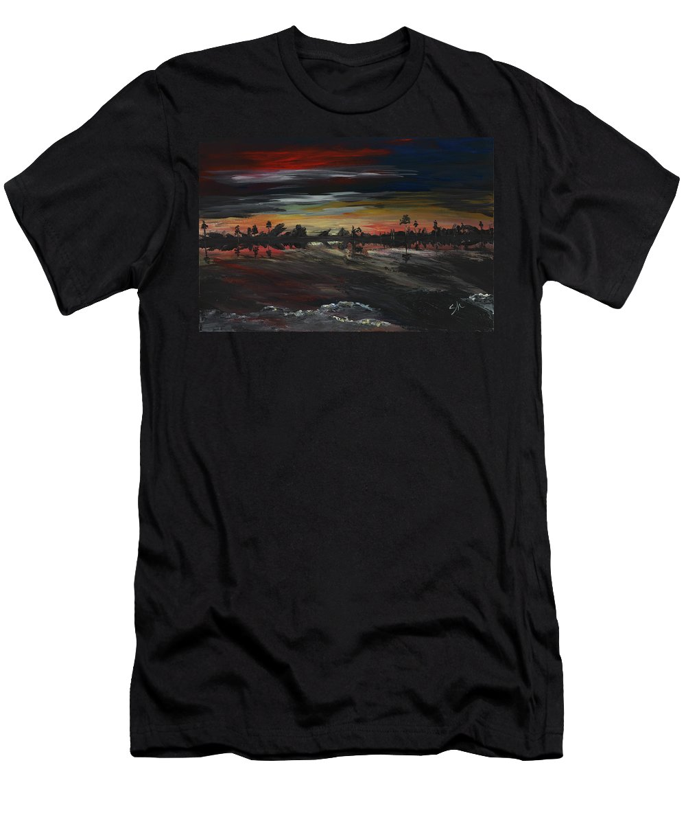 Acrylic Men's T-Shirt (Athletic Fit) featuring the painting 180 Reality by Sandra Hall