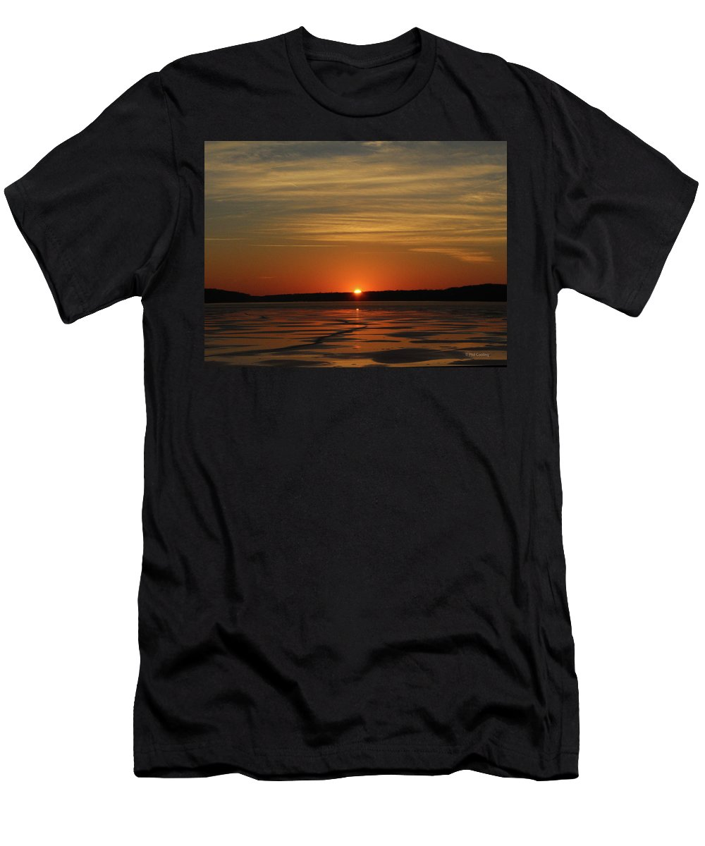 Sunset Men's T-Shirt (Athletic Fit) featuring the photograph Sunset by Phil Cooling