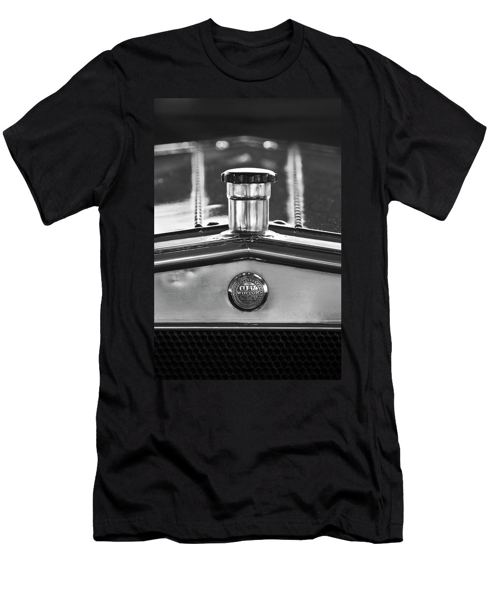 1917 Winton Six-33 Sport Touring Men's T-Shirt (Athletic Fit) featuring the photograph 1917 Winton Six-33 Sport Touring Hood Ornament 2 by Jill Reger