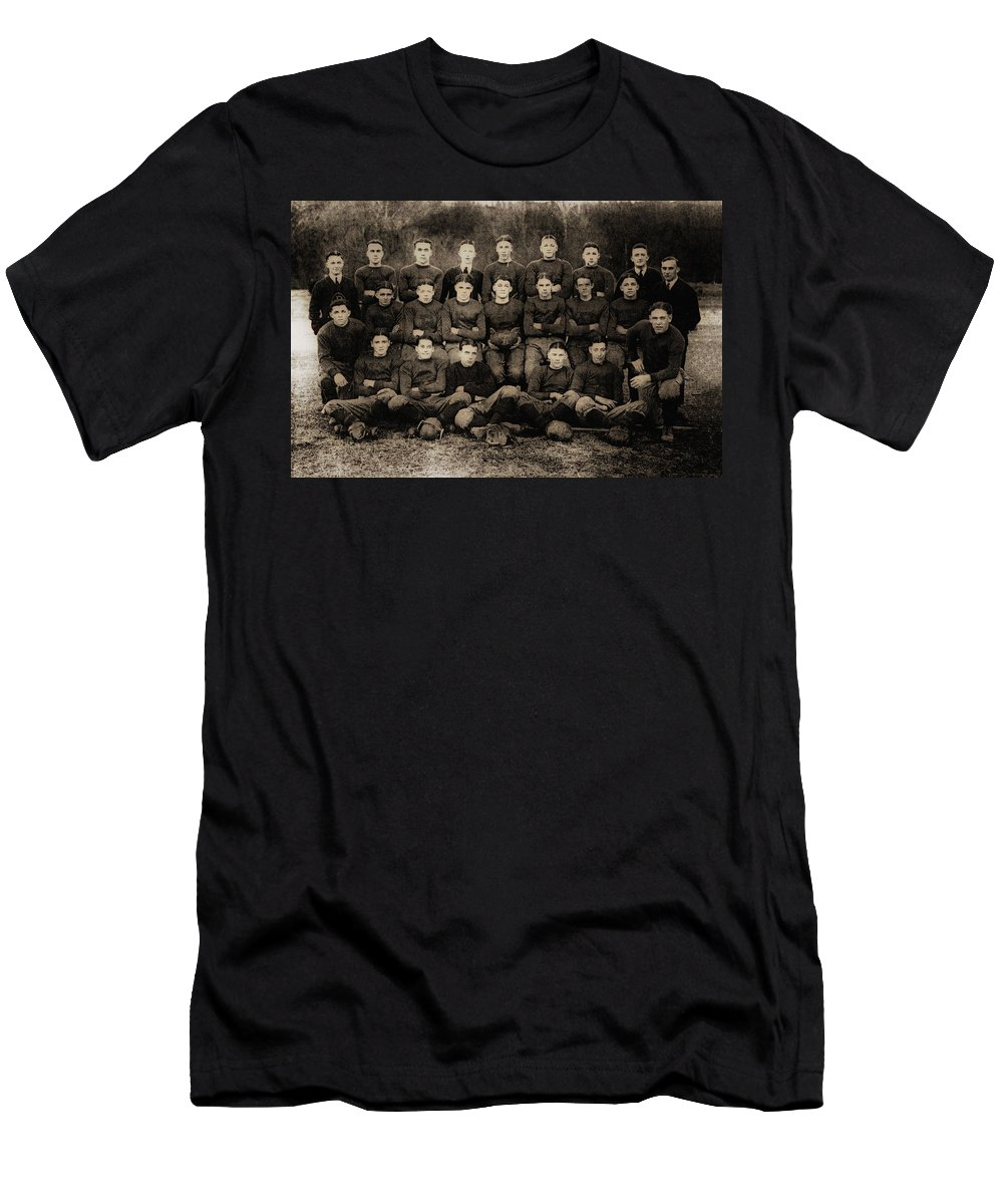 Football Men's T-Shirt (Athletic Fit) featuring the photograph 1921 Royal Cc Football Champions by Bill Cannon
