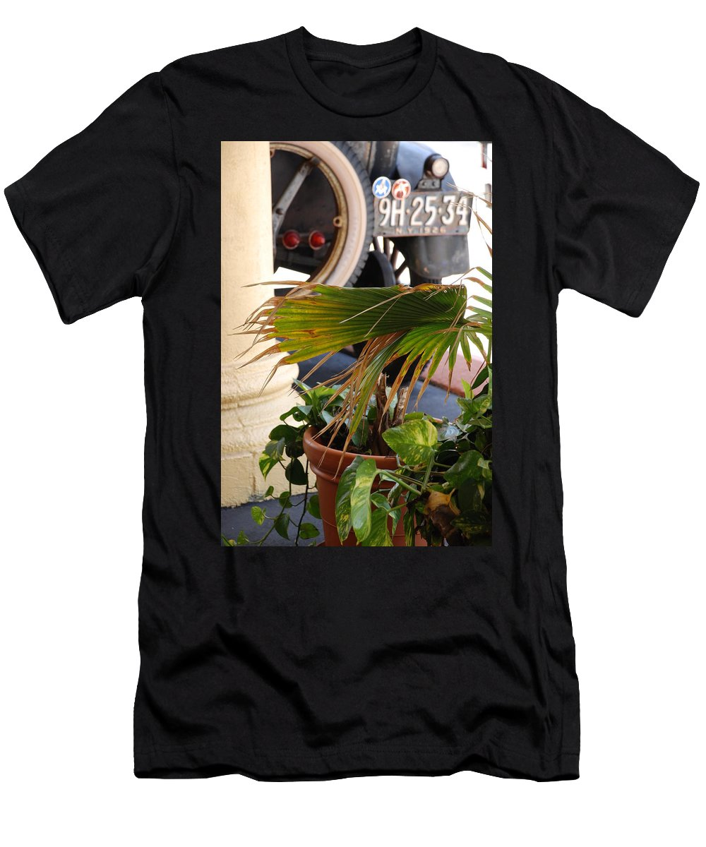 Ford Men's T-Shirt (Athletic Fit) featuring the photograph 1926 Model T And Plants by Rob Hans
