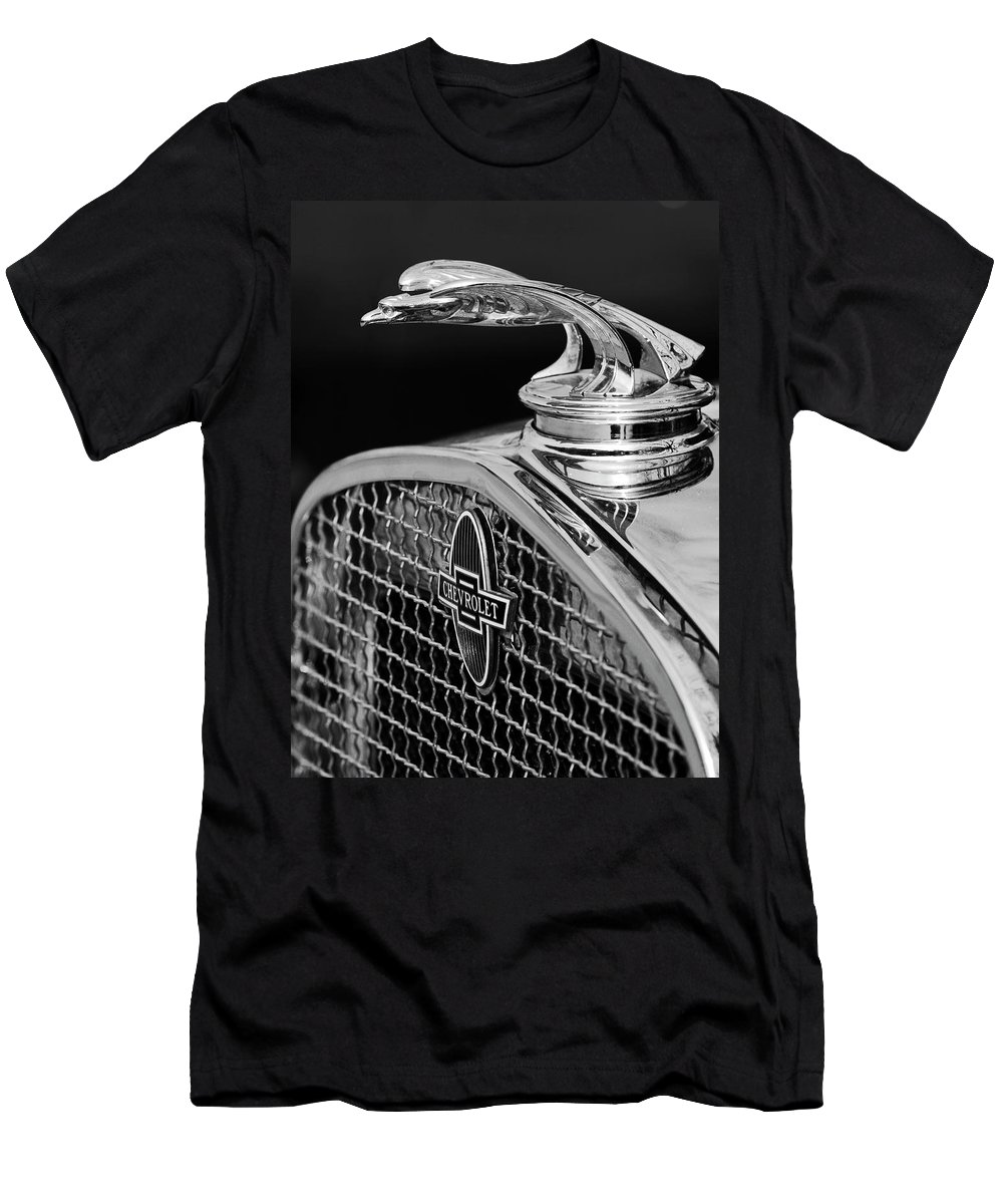 1931 Chevrolet Men's T-Shirt (Athletic Fit) featuring the photograph 1931 Chevrolet Hood Ornament 4 by Jill Reger