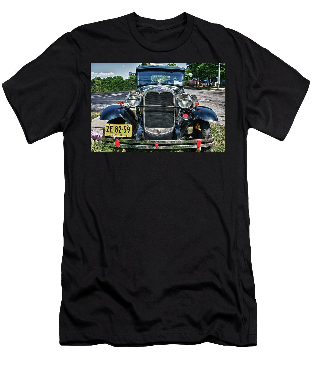 1931 Ford Men's T-Shirt (Athletic Fit) featuring the photograph 1931 Ford 7374 by Guy Whiteley