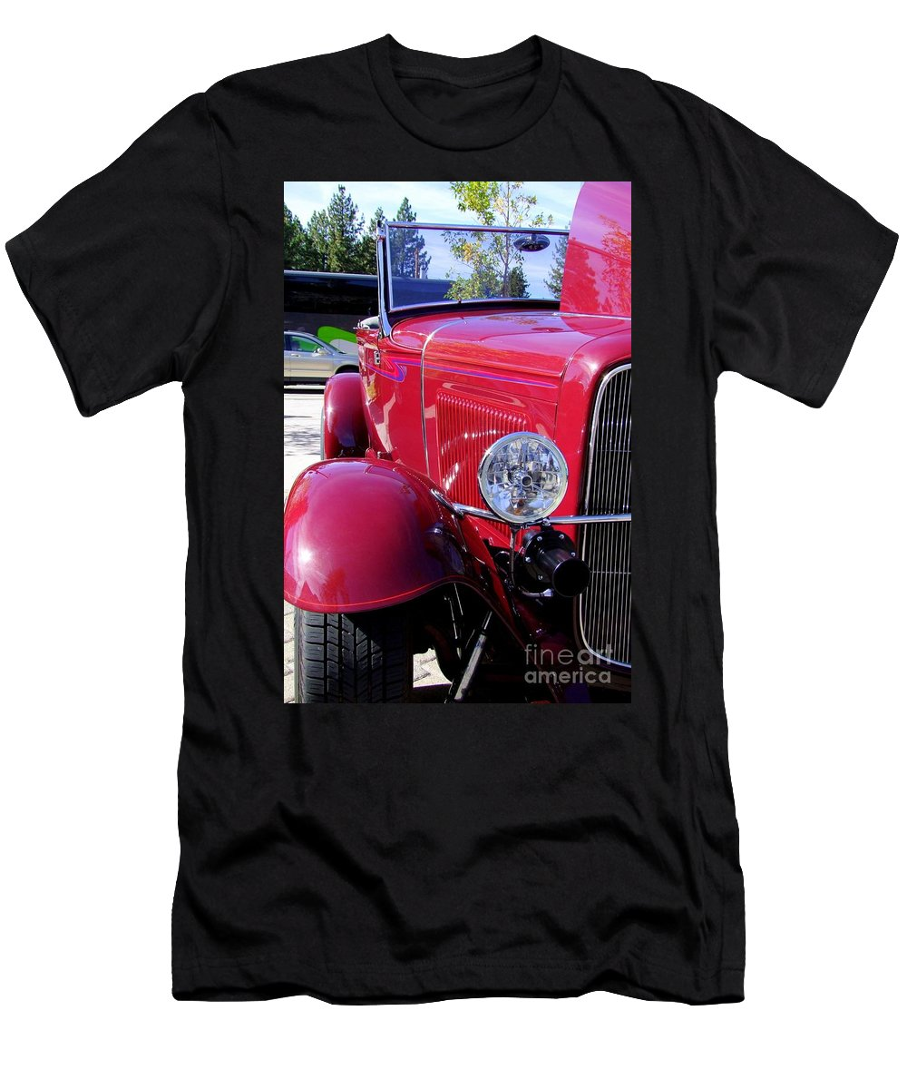 Red Cars Men's T-Shirt (Athletic Fit) featuring the photograph 1931 Ford by Mary Deal