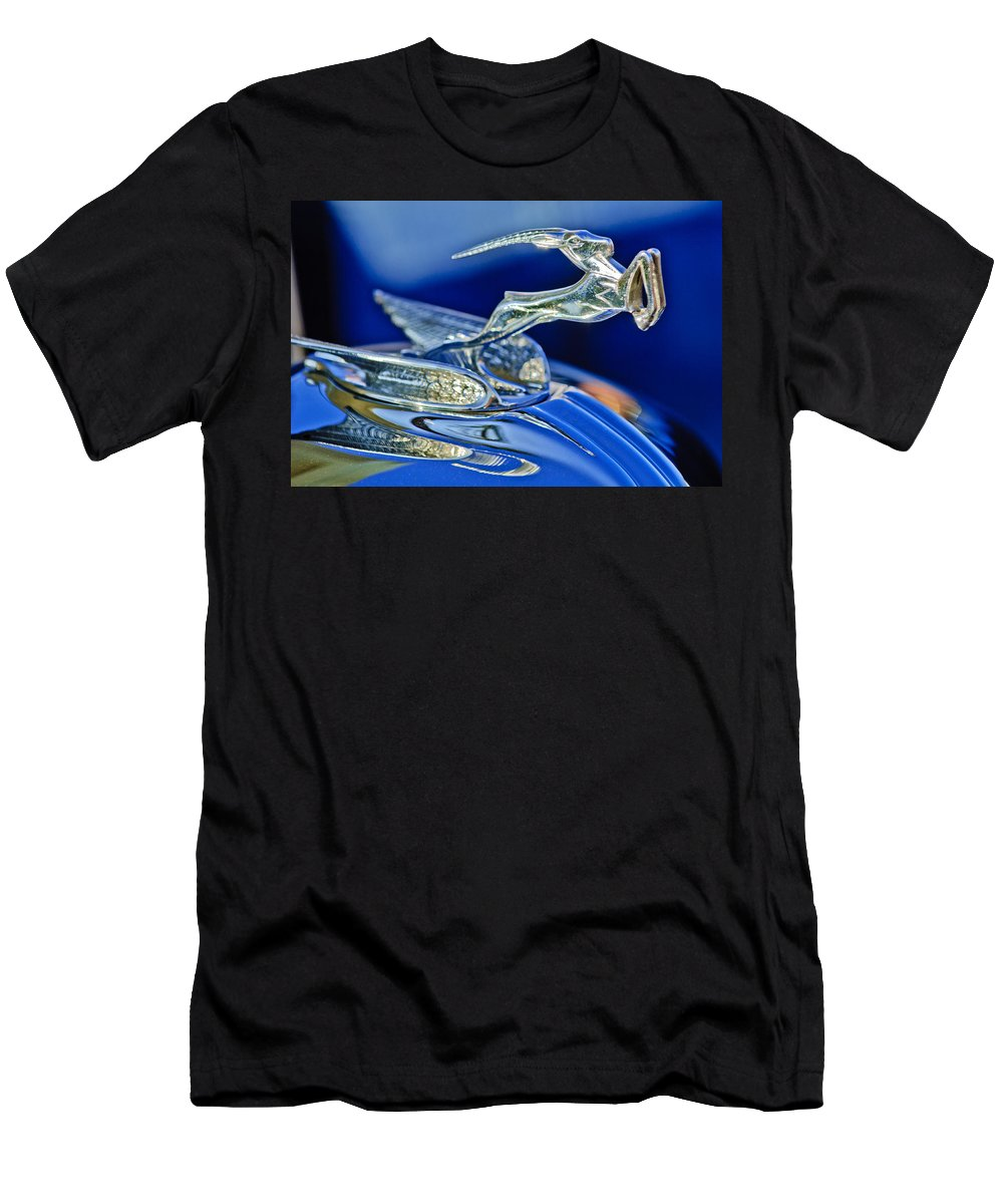 1933 Chrysler Imperial Men's T-Shirt (Athletic Fit) featuring the photograph 1933 Chrysler Imperial Hood Ornament by Jill Reger