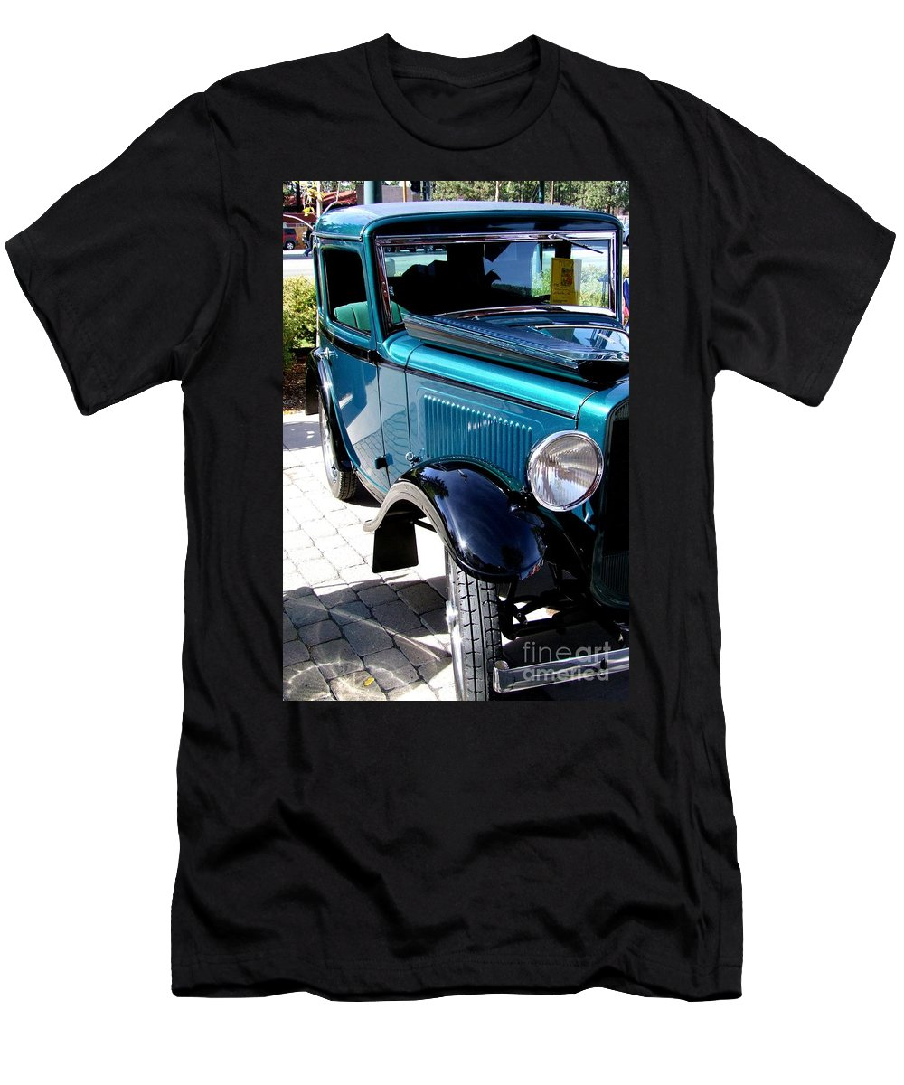 Blue Men's T-Shirt (Athletic Fit) featuring the photograph 1934 American Austin by Mary Deal