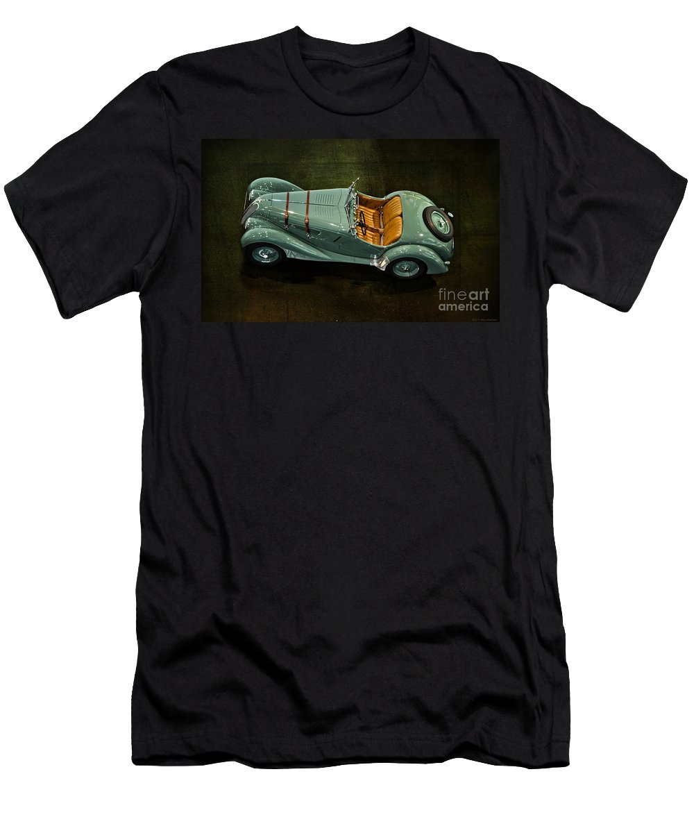 1936 Bmw 328 Roadster Men's T-Shirt (Athletic Fit) featuring the photograph 1936 Bmw 328 Roadster by Mary Machare