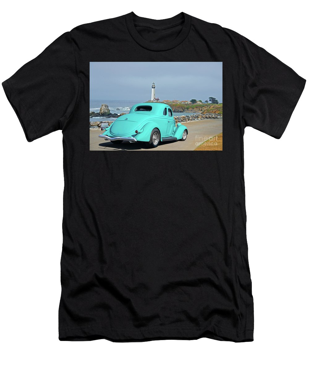 Auto Men's T-Shirt (Athletic Fit) featuring the photograph 1936 Ford Coupe 'shoreline' 1 by Dave Koontz