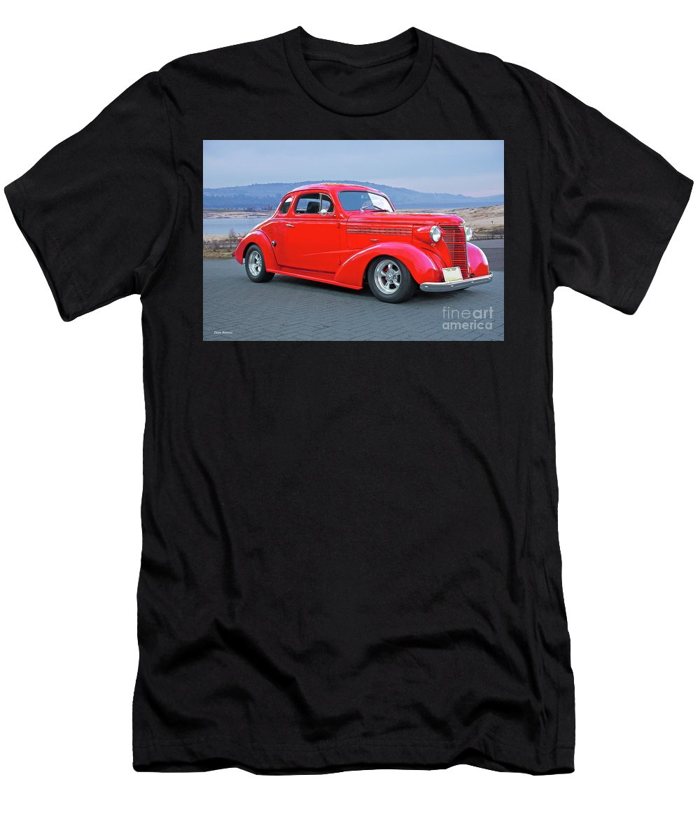 Automobile Men's T-Shirt (Athletic Fit) featuring the photograph 1938 Chevrolet 'all Business. Coupe by Dave Koontz