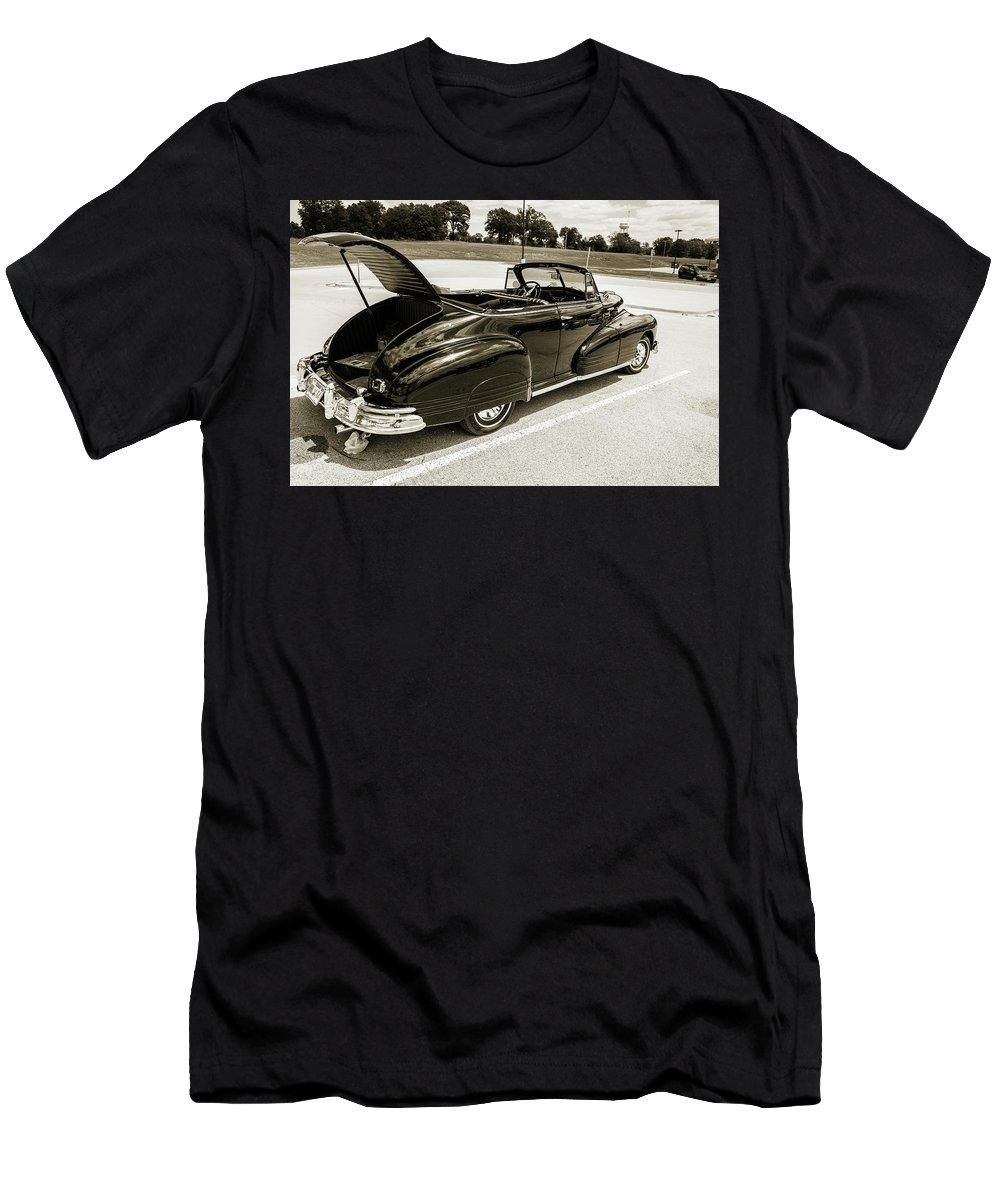 1947 Pontiac Convertible Men's T-Shirt (Athletic Fit) featuring the photograph 1947 Pontiac Convertible Photograph 5544.64 by M K Miller