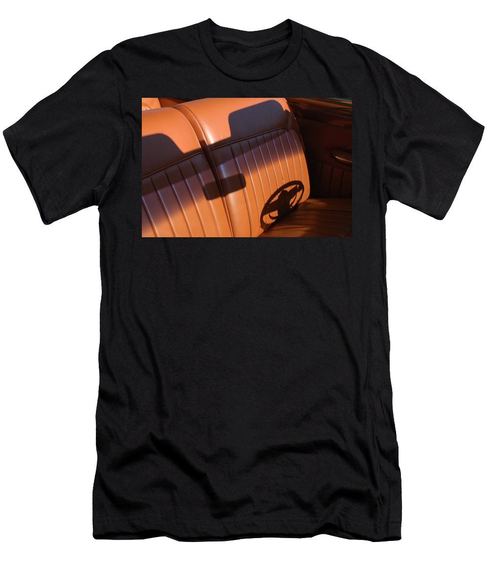 Car Men's T-Shirt (Athletic Fit) featuring the photograph 1950 Oldsmobile Rocket 88 Convertible Interior by Jill Reger