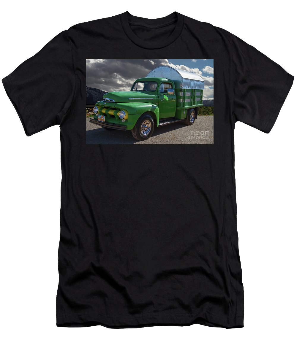 1951 Men's T-Shirt (Athletic Fit) featuring the photograph 1951 Ford Truck by Nick Gray