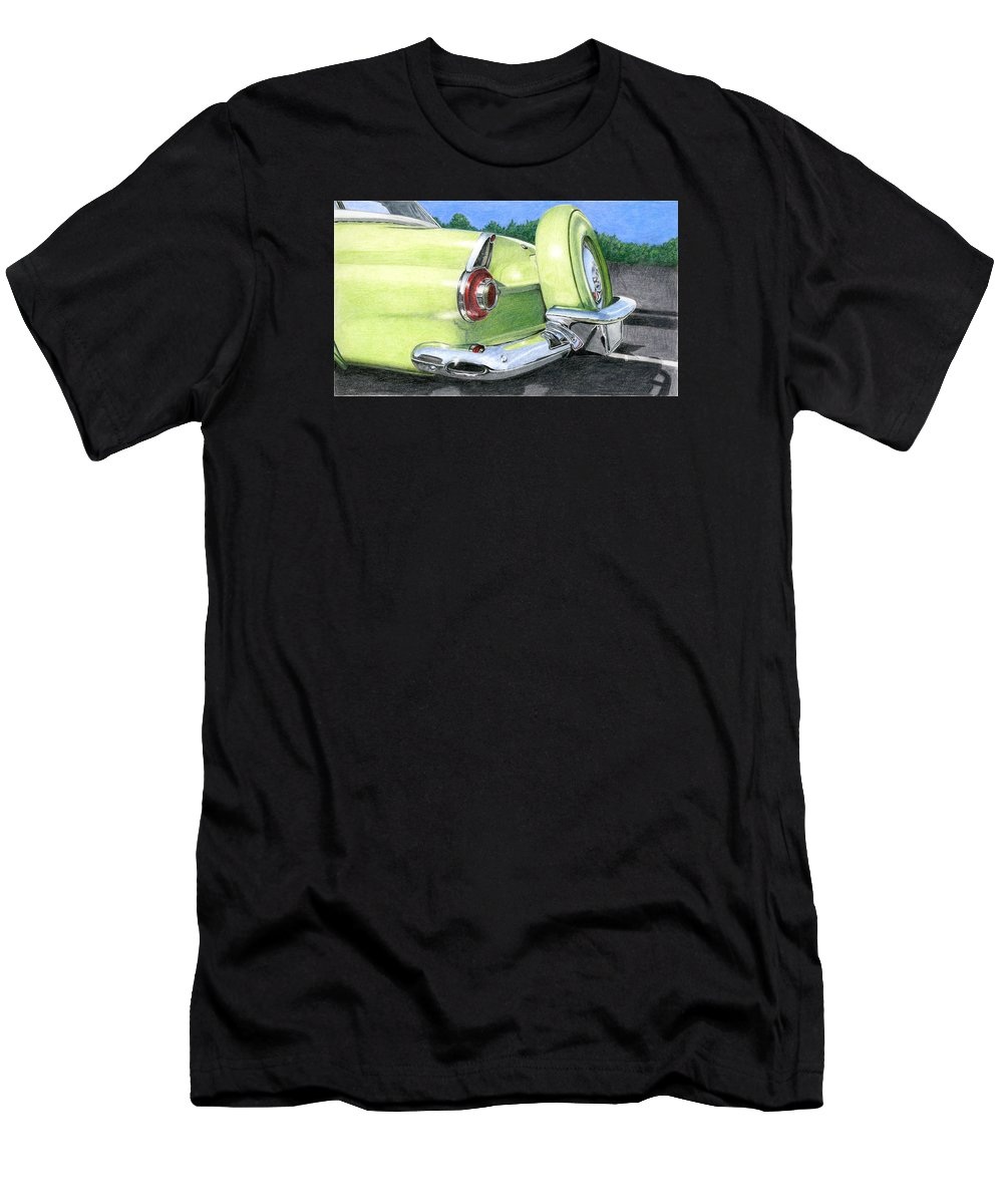 Classic Men's T-Shirt (Athletic Fit) featuring the drawing 1956 Ford Thunderbird by Rob De Vries