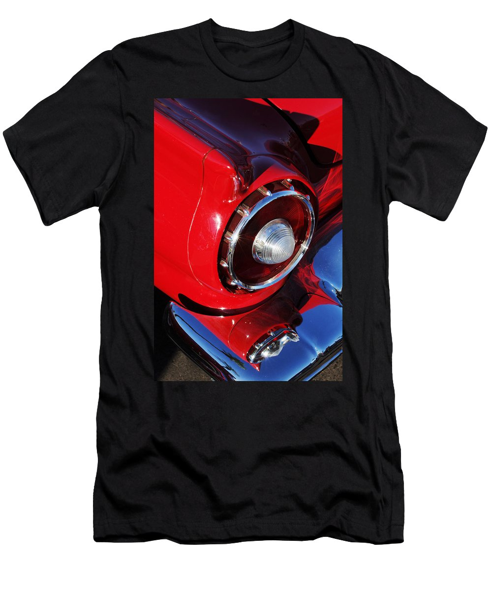 Car Men's T-Shirt (Athletic Fit) featuring the photograph 1957 Ford Thunderbird Taillight by Jill Reger