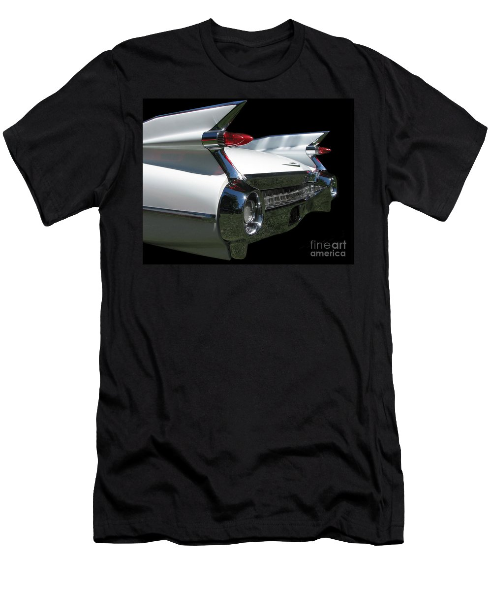 1959 Cadillac Coupe De'ville Convertible Men's T-Shirt (Athletic Fit) featuring the photograph 1959 Cadillac Tail by Peter Piatt