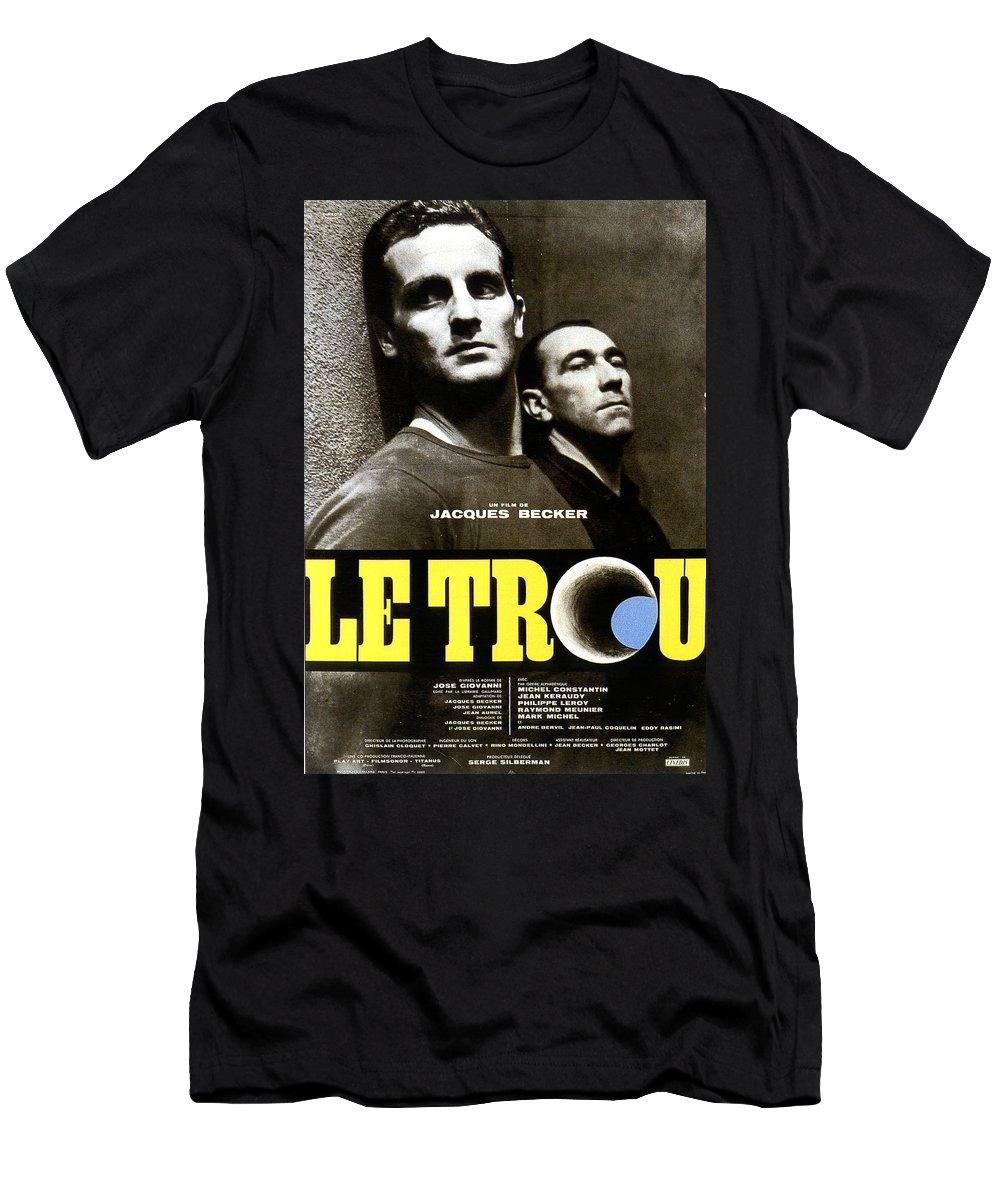 Becker Le Trou Men's T-Shirt (Athletic Fit) featuring the digital art 1960 Becker Le Trou by Mery Moon