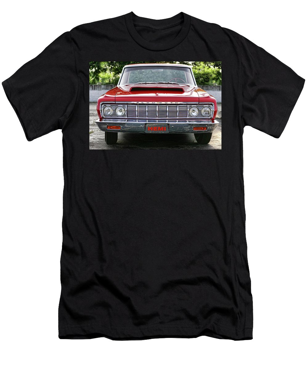 1964 Men's T-Shirt (Athletic Fit) featuring the photograph 1964 Plymouth Savoy Hemi by Gordon Dean II