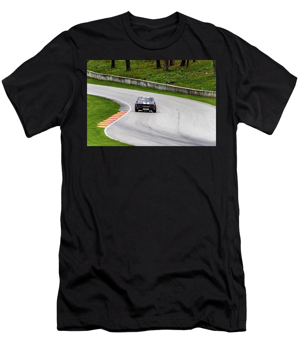 1965 Men's T-Shirt (Athletic Fit) featuring the photograph 1965 Ford Mustang by Randy Scherkenbach