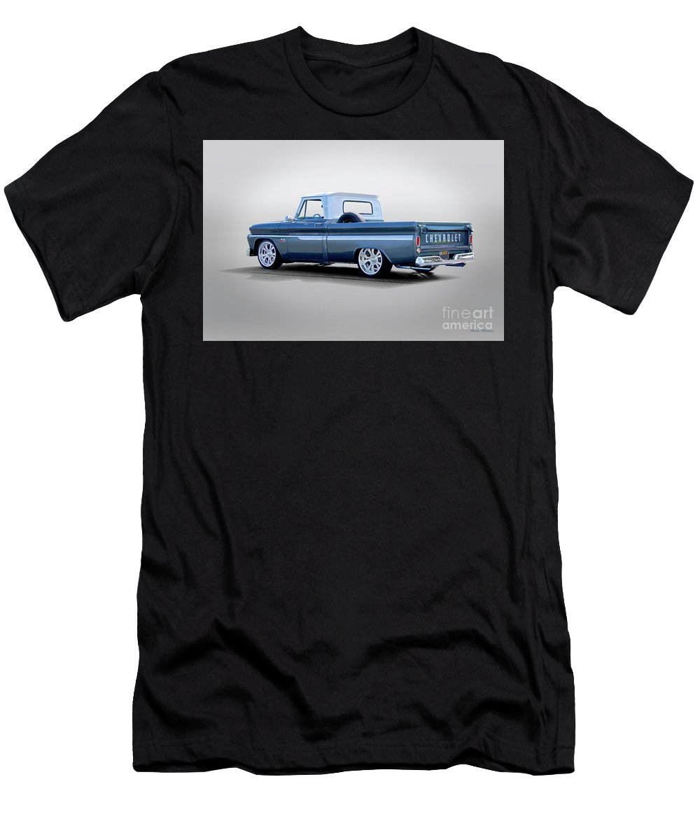 Automobile Men's T-Shirt (Athletic Fit) featuring the photograph 1966 Chevrolet C10 Custom Pickup by Dave Koontz