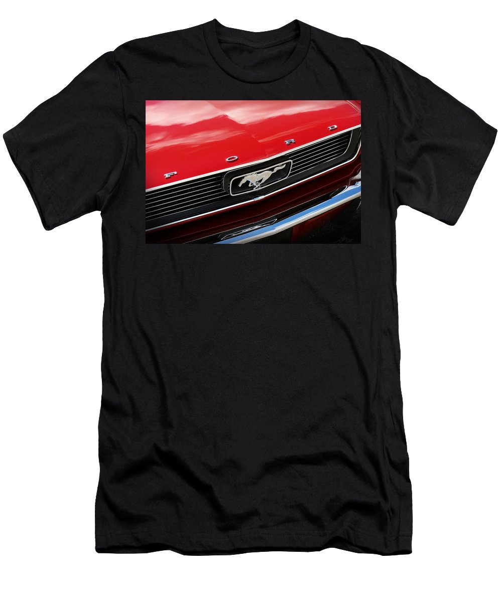 1966 Men's T-Shirt (Athletic Fit) featuring the photograph 1966 Ford Mustang by Gordon Dean II
