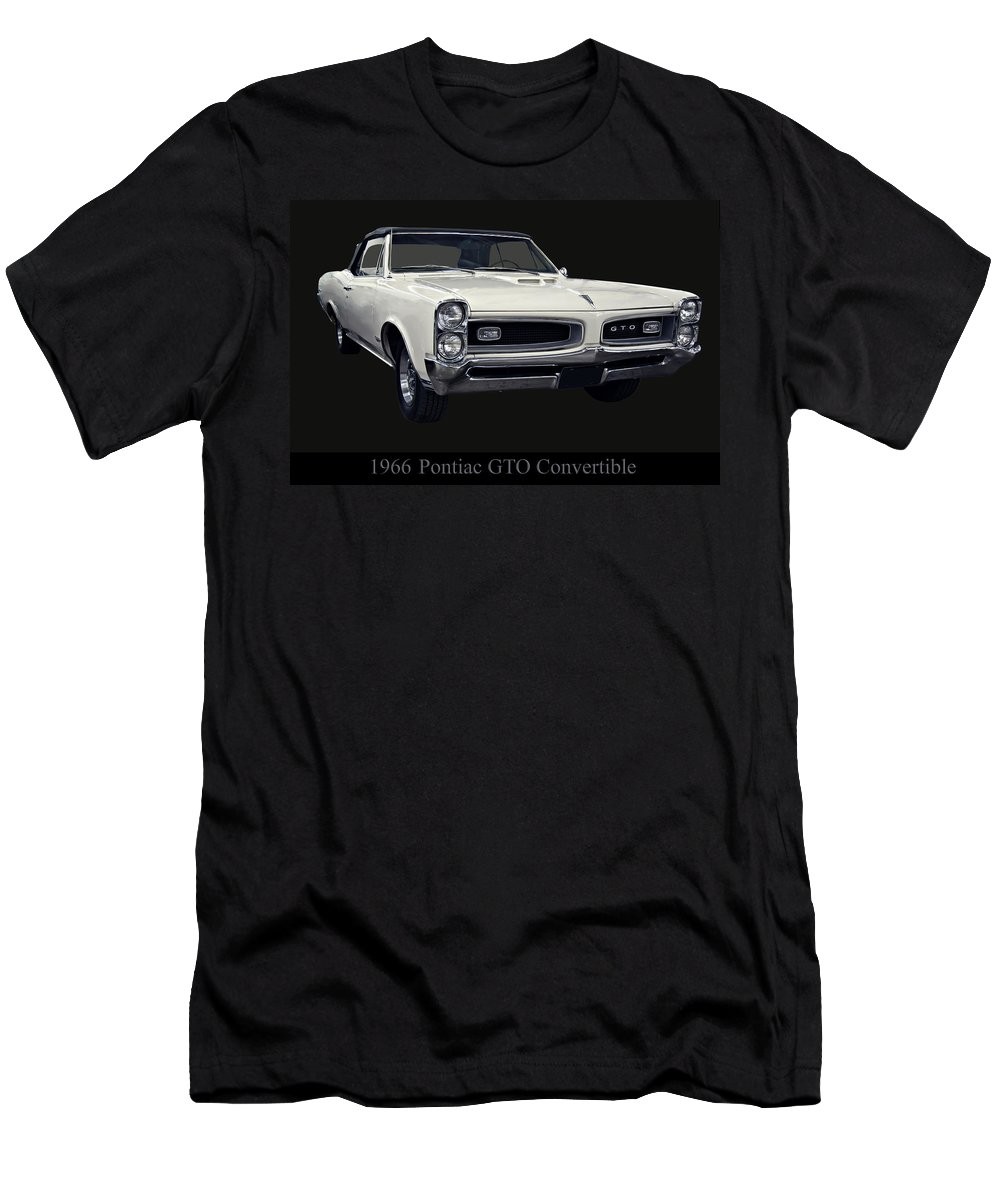 1960s Cars Men's T-Shirt (Athletic Fit) featuring the photograph 1966 Pontiac Gto Convertible by Chris Flees