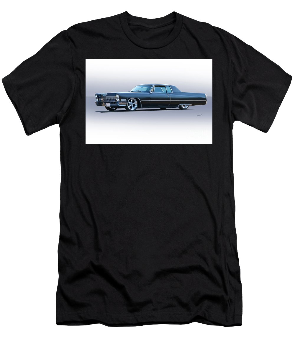 Auto Men's T-Shirt (Athletic Fit) featuring the photograph 1967 Cadillac Custom Coupe Deville by Dave Koontz