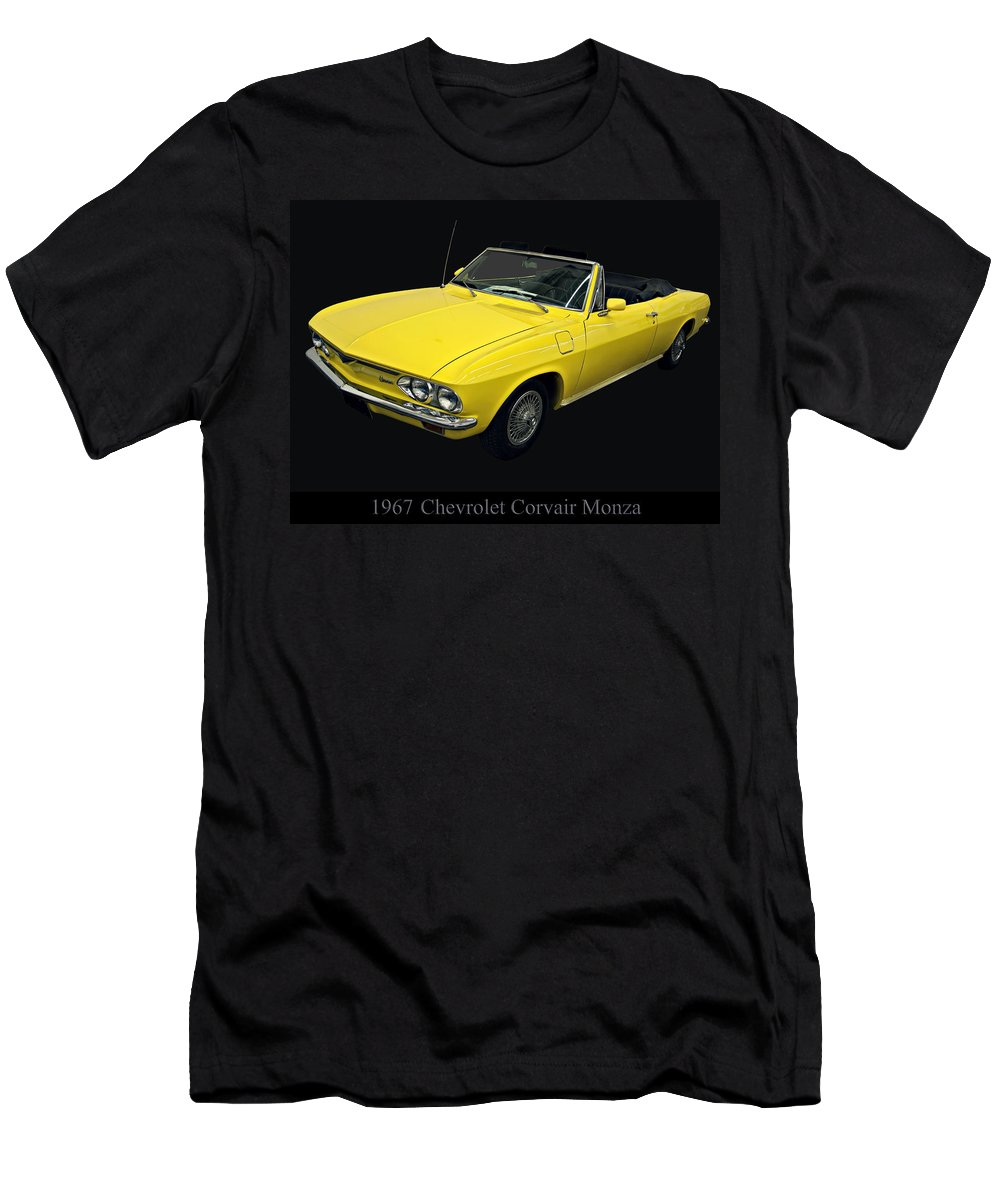 1960s Cars Men's T-Shirt (Athletic Fit) featuring the photograph 1967 Chevy Corvair Monza by Chris Flees