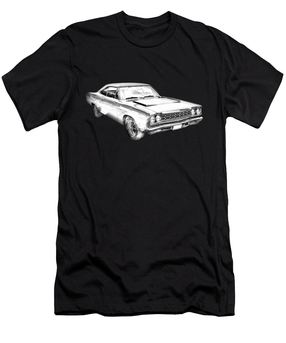 1968 Plymouth Roadrunner Muscle Car Illustration T Shirt For Sale By