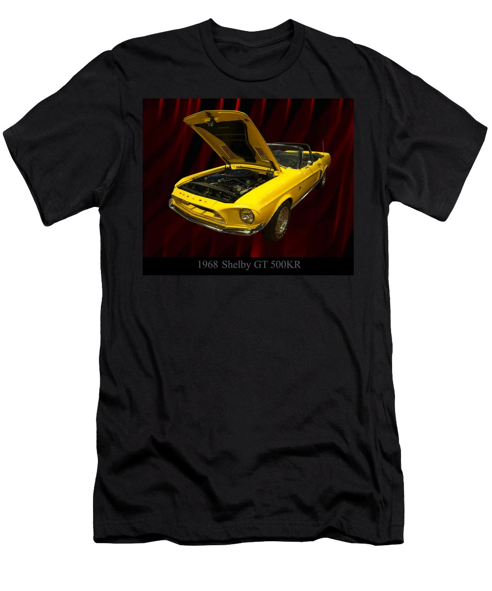 1960s Cars Men's T-Shirt (Athletic Fit) featuring the photograph 1968 Shelby Gt 500kr by Chris Flees
