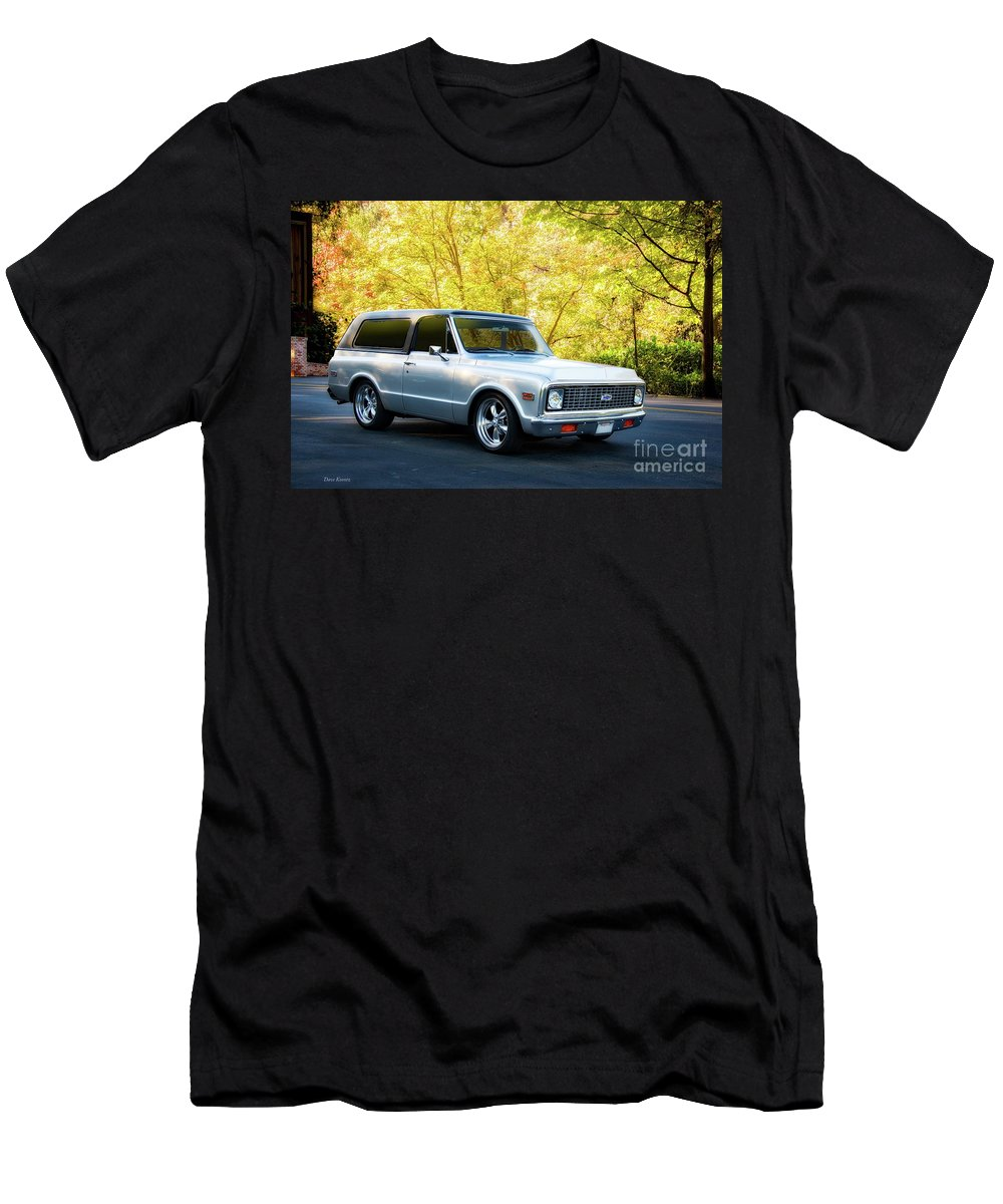 Automobile Men's T-Shirt (Athletic Fit) featuring the photograph 1971 Chevrolet Tahoe Blazer I by Dave Koontz